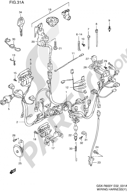 31A - WIRING HARNESS (MODEL Y) Suzuki GSX-R600 2000