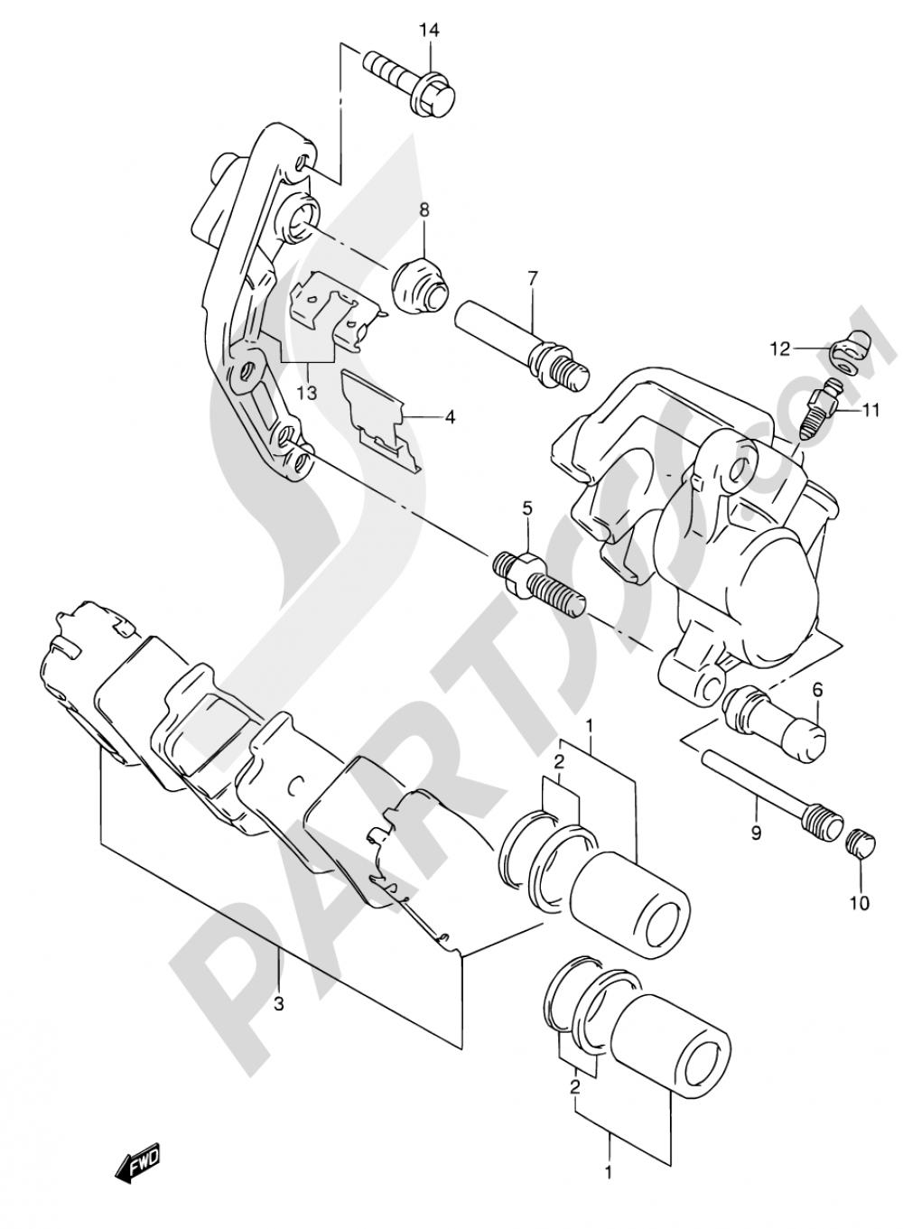 54 - FRONT CALIPERS Suzuki RF600R 1995