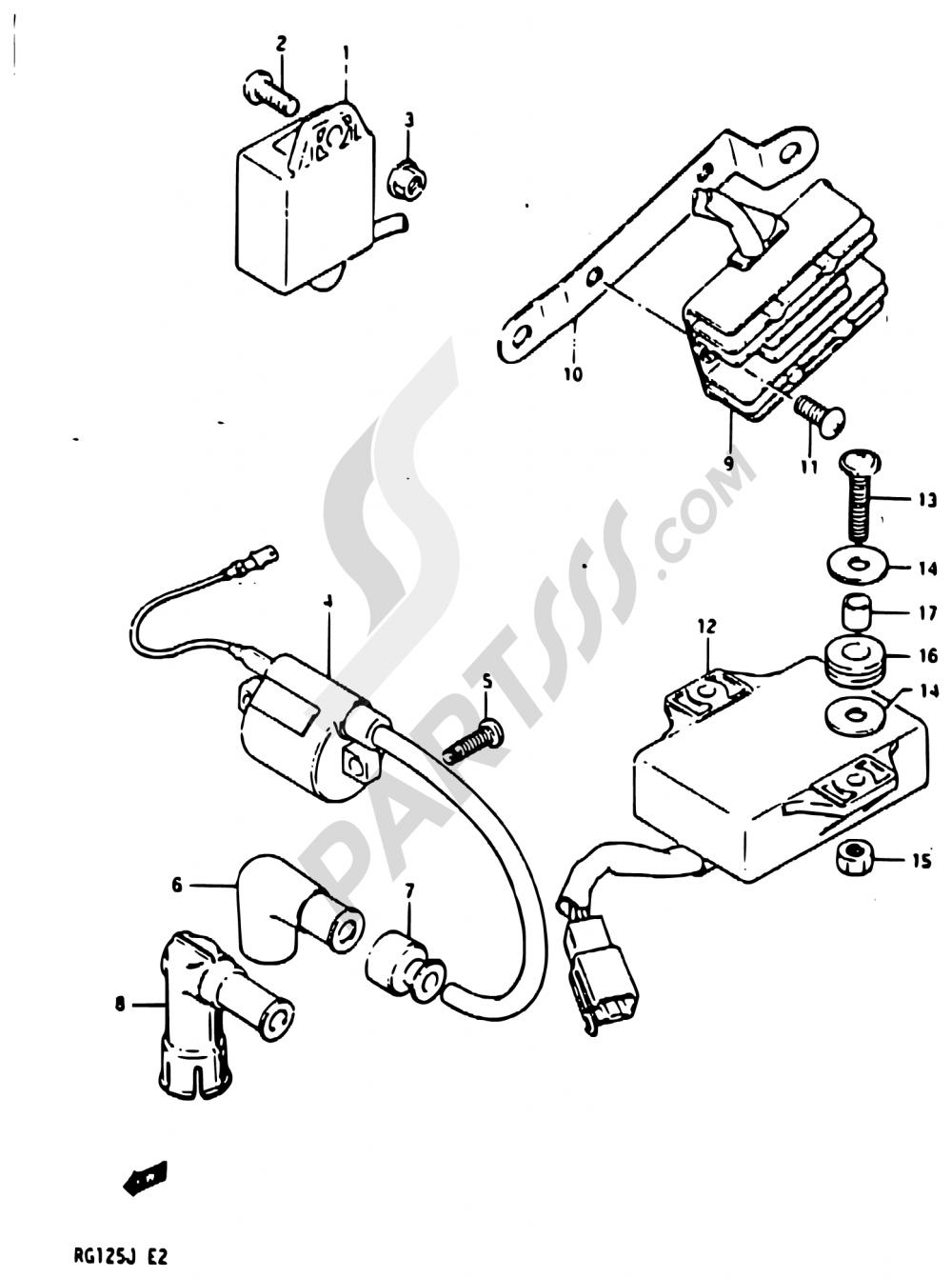 17 - ELECTRICAL Suzuki RG125A 1988
