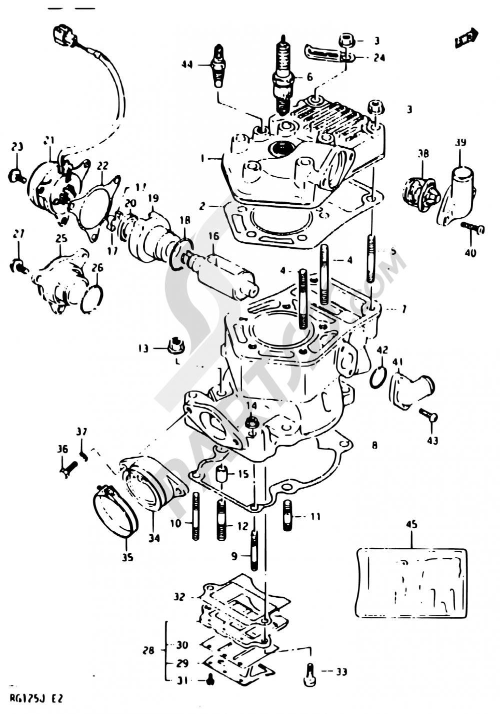 1 - CYLINDER Suzuki RG125C 1987