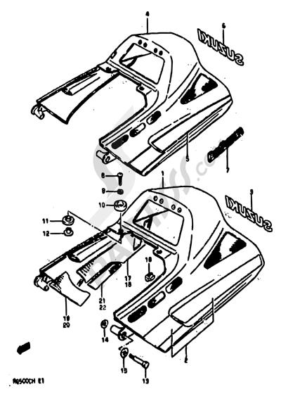 Suzuki RG500 1986 34 - SEAT TAIL COVER