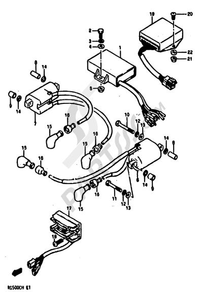 Suzuki RG500 1986 20 - ELECTRICAL