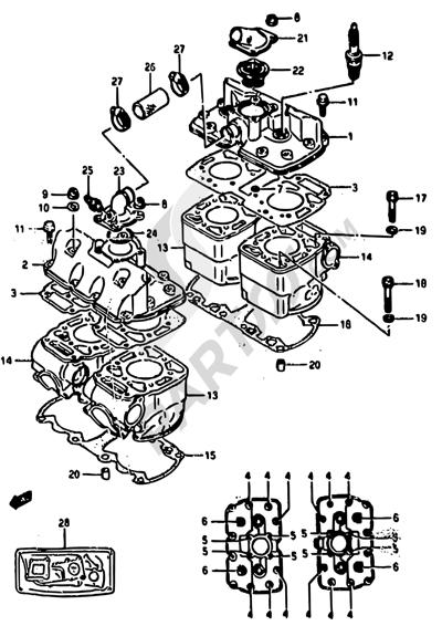 Suzuki RG500 1986 1 - CYLINDER