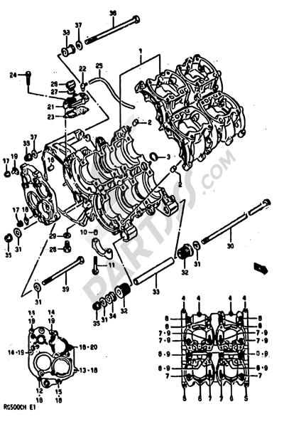 Suzuki RG500 1986 3 - CRANKCASE