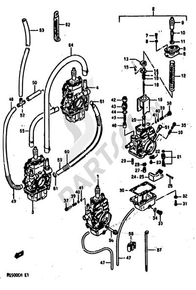 Suzuki RG500 1986 8 - CARBURETOR