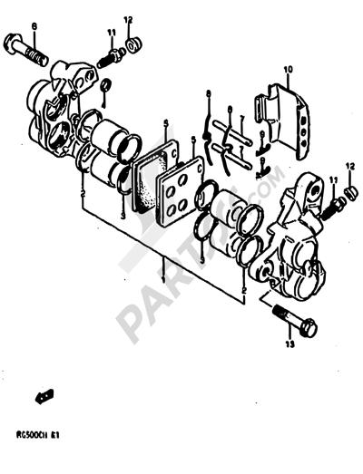 Suzuki RG500 1986 46 - FRONT CALIPERS