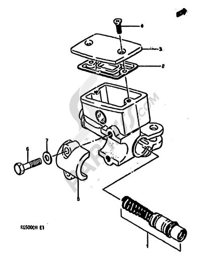 Suzuki RG500 1986 48 - FRONT MASTER CYLINDER