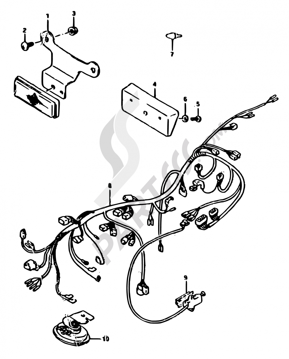 7 Wiring Harness E02e21e22e24 Suzuki Rgv250 1990