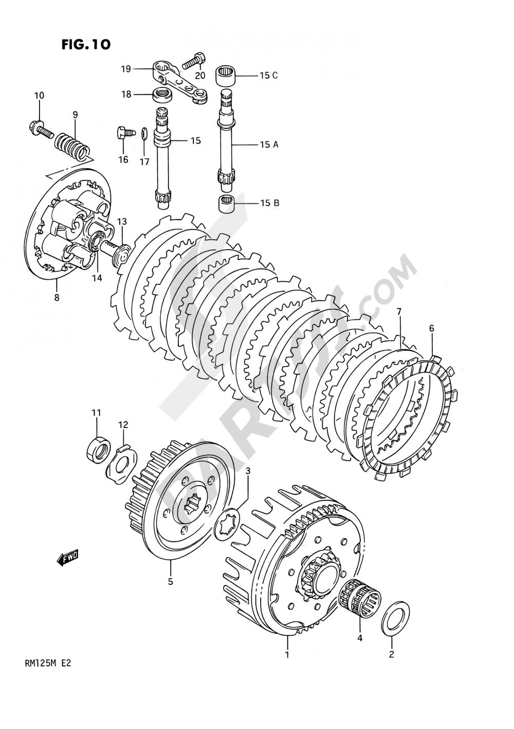 10 - CLUTCH Suzuki RM125 1990