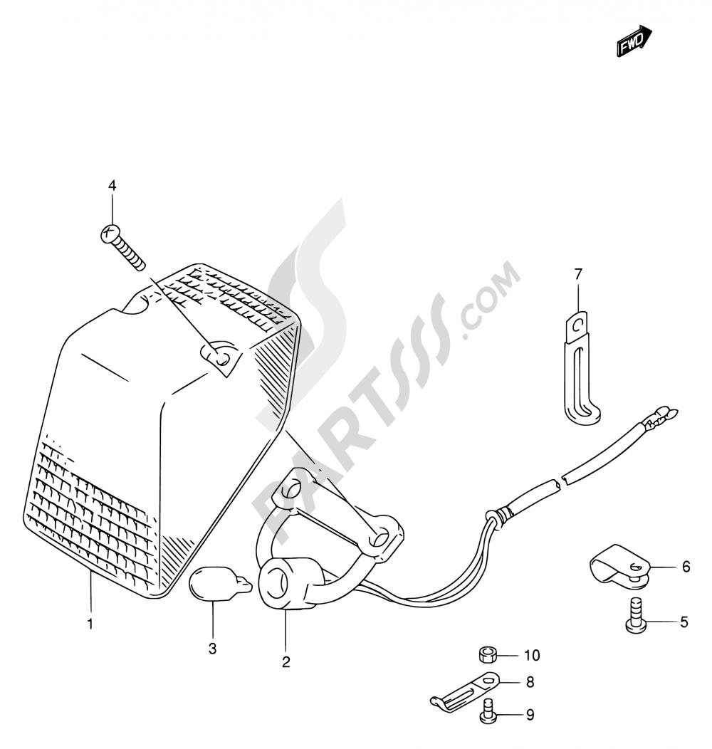18 - TAIL LAMP Suzuki RMX250 1997