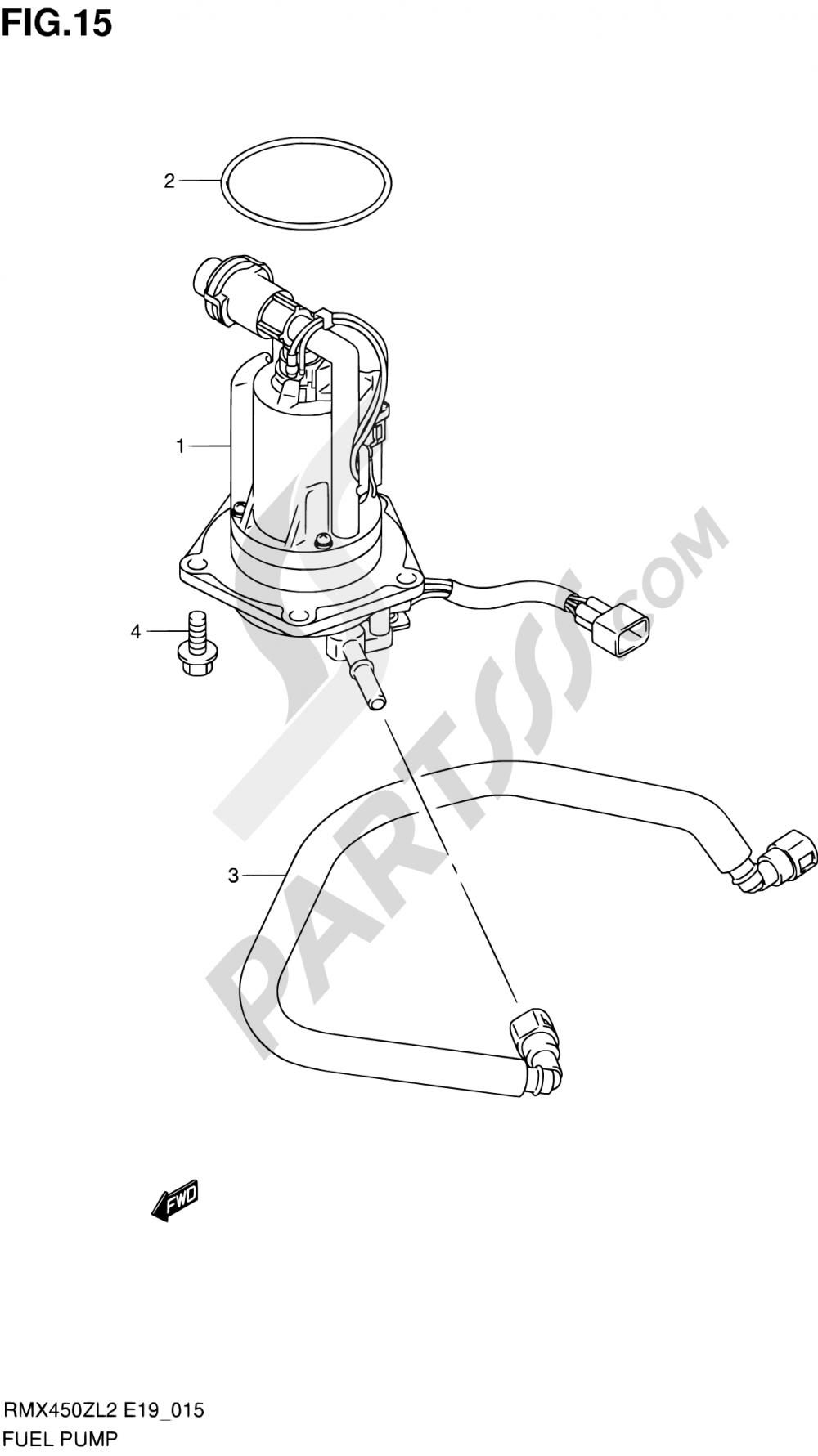 15 - FUEL PUMP Suzuki RMX450Z 2012