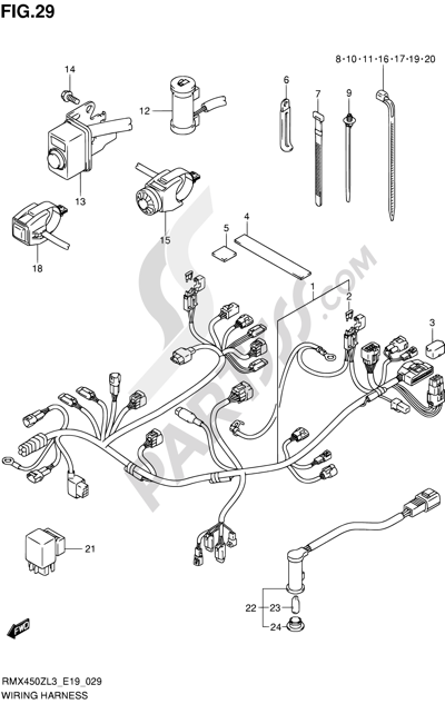 Suzuki Rmx450z Wiring Diagram