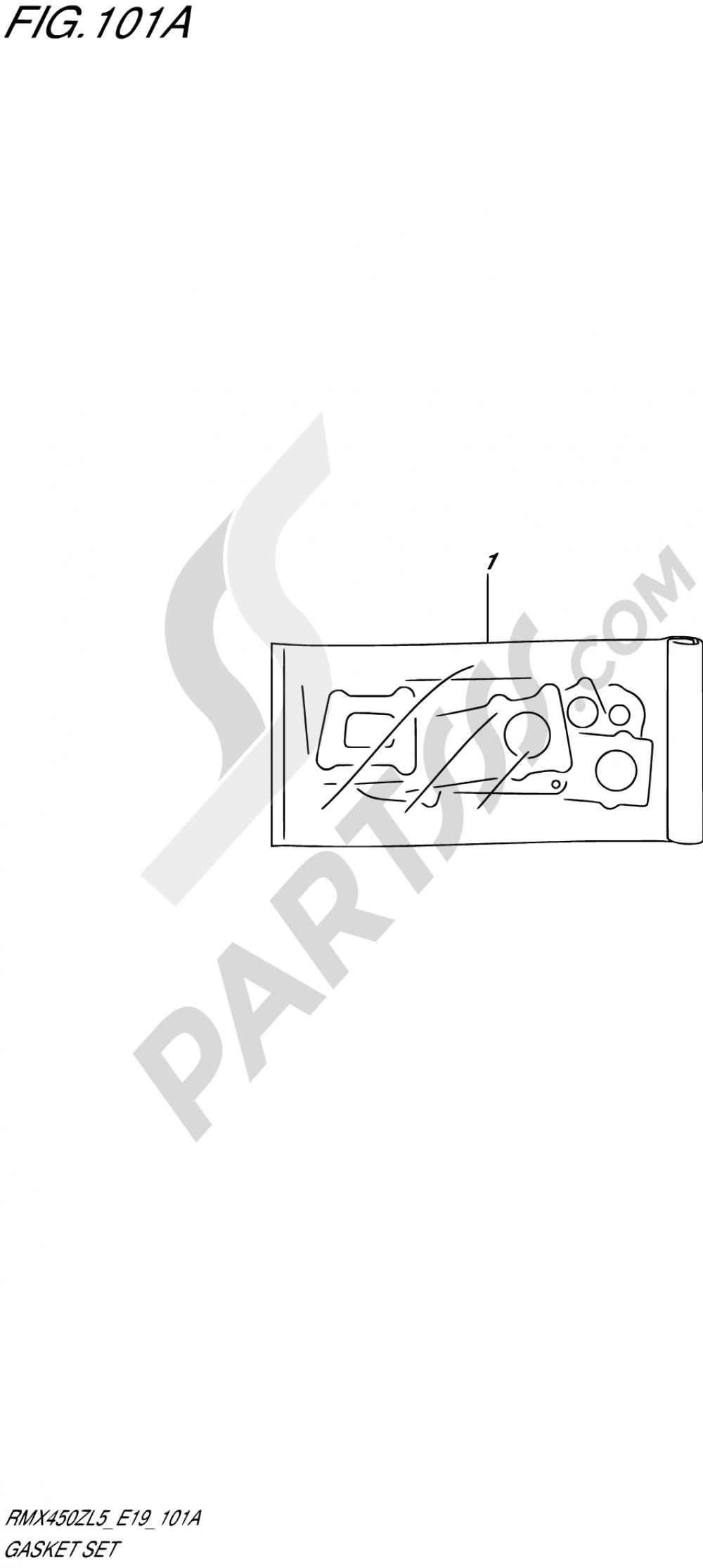 101A - GASKET SET Suzuki RMX450Z 2015