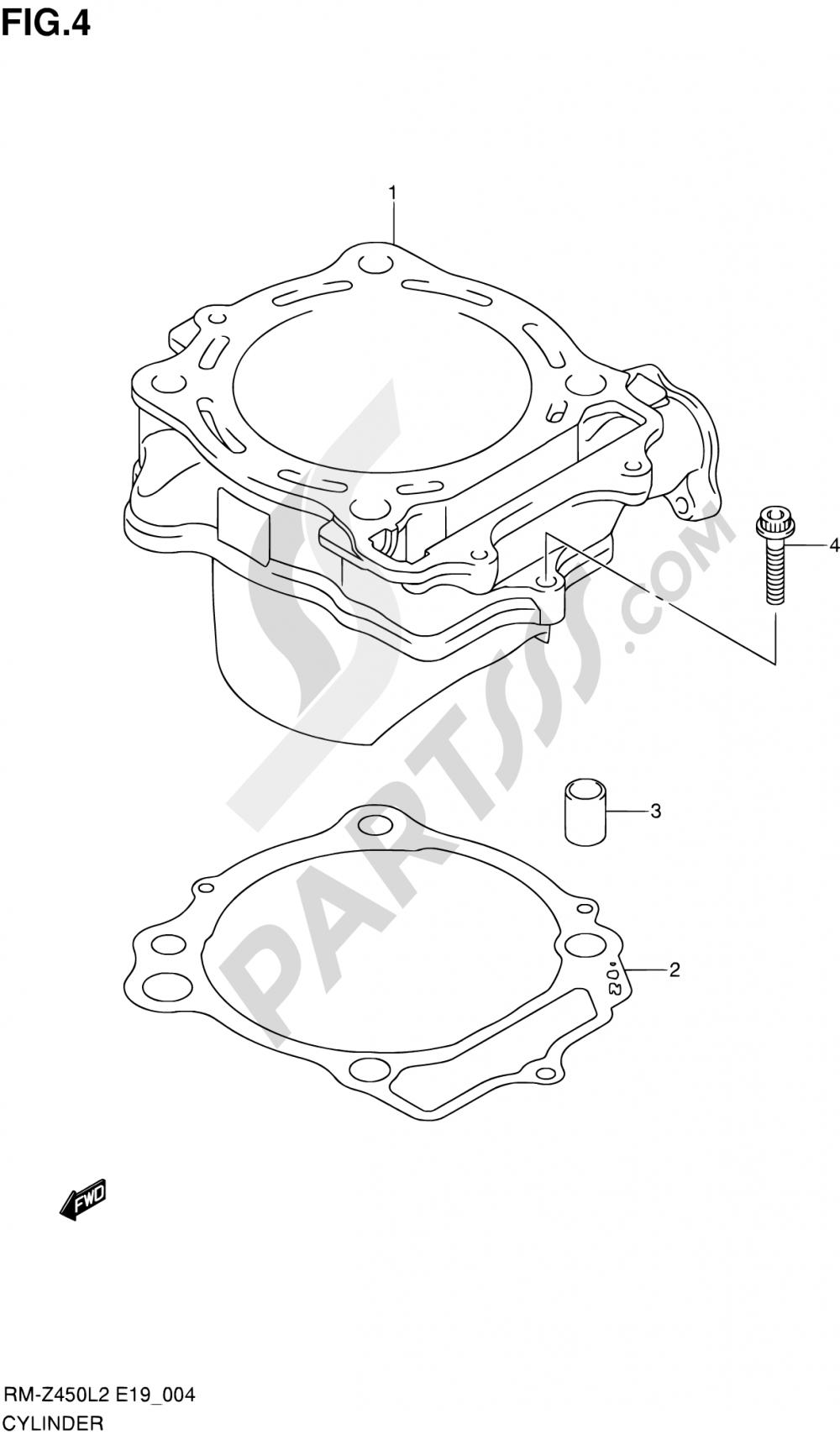 4 - CYLINDER Suzuki RM-Z450 2012