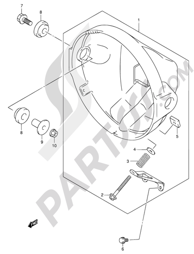 Suzuki Sv650 2002 Dissassembly Sheet Purchase Genuine Spare Parts