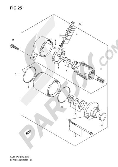 Diagrama Suzuki Sv650s E02