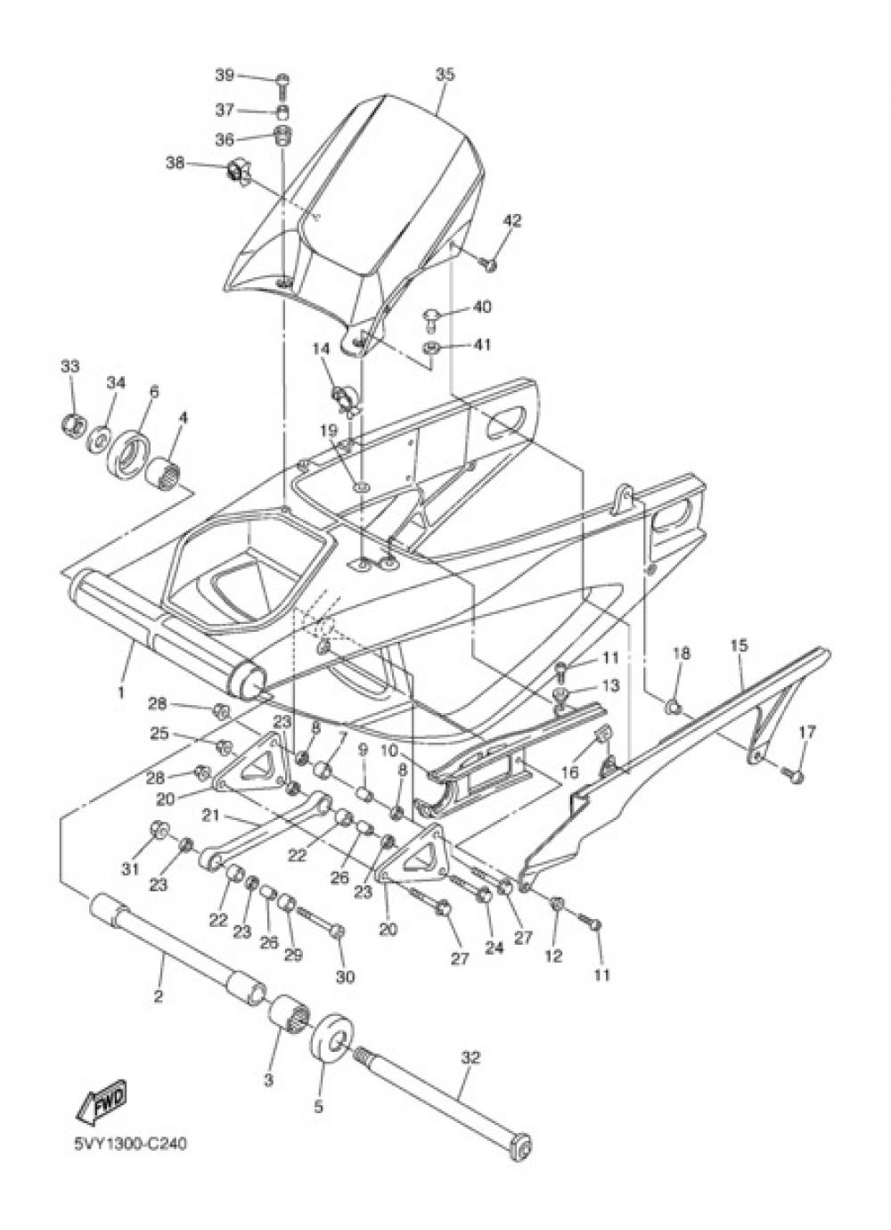 REAR ARM Yamaha YZF-R1 2004