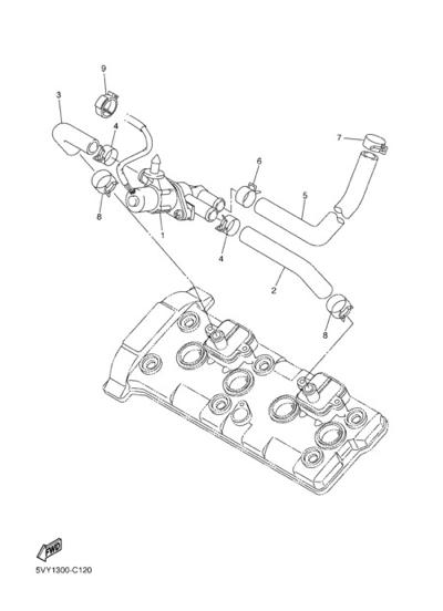 Yamaha YZF-R1 2004 AIR INDUCTION SYSTEM