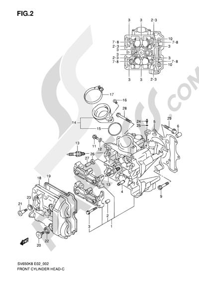 Suzuki SV650A 2009 2 - FRONT CYLINDER HEAD