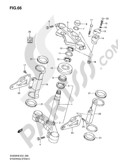 Suzuki SV650A 2009 66 - STEERING STEM (SV650K8/UK8/AK8/UAK8/K9/UK9/AK9/UAK9)