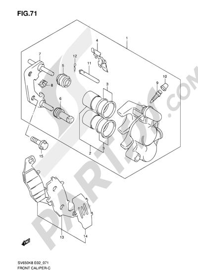 Suzuki SV650A 2009 71 - FRONT CALIPER (SV650K8/UK8/SK8/SUK8/K9/UK9/SK9/SUK9/SL0/SUL0)