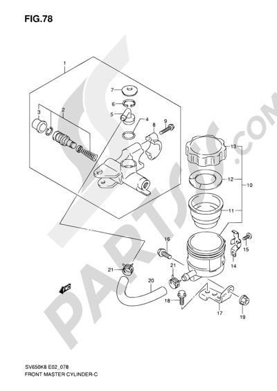 Suzuki SV650A 2009 78 - FRONT MASTER CYLINDER (SV650SAK8/SUAK8/SAK8/SUAK8/SAL0/SUAL0)