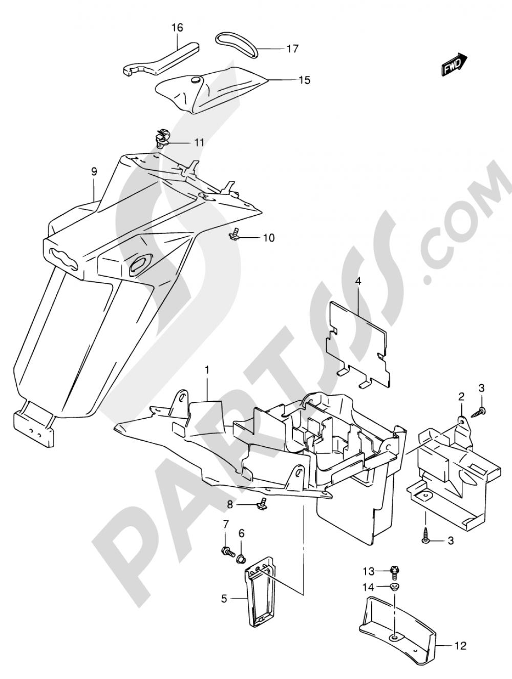 51A - REAR FENDER (MODEL K4/K5/K6/K7) Suzuki SV650S 2005