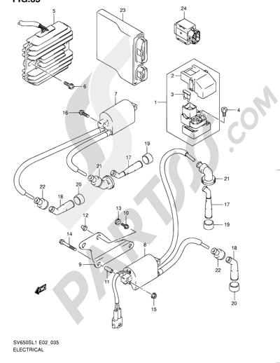 Suzuki Sv650s 2011 Dissassembly Sheet Purchase Genuine Spare Parts