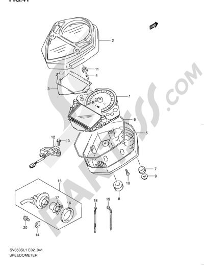 Suzuki Sv650sa 2011 Dissassembly Sheet Purchase Genuine Spare Parts