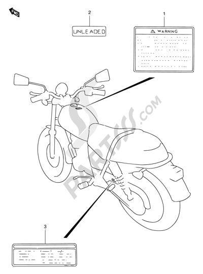 Suzuki TU250X 1996 38 - WARNING LABEL (MODEL V/W/X/Y)