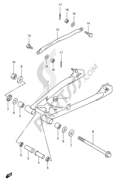 Suzuki TU250X 1996 46 - REAR SWINGING ARM