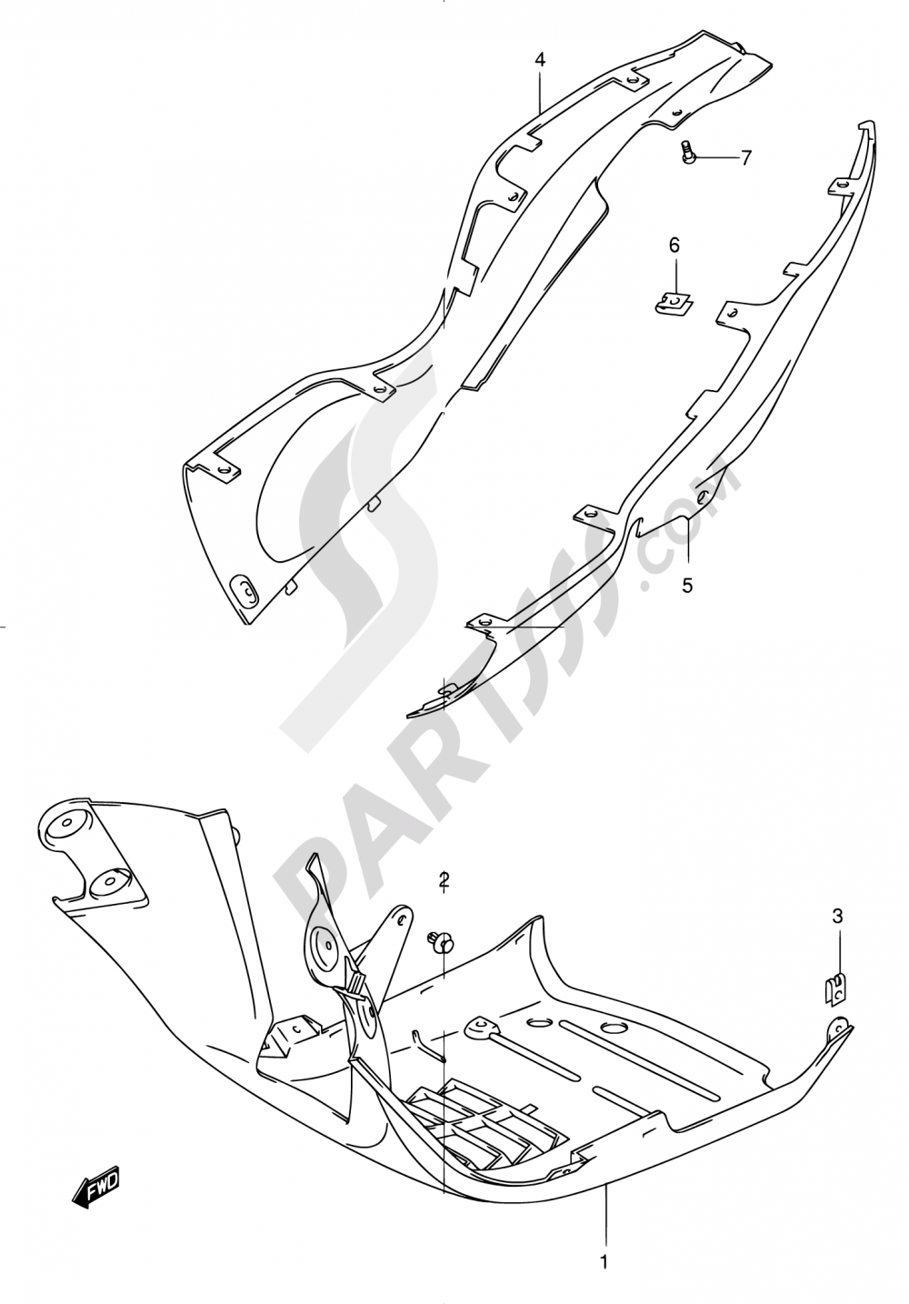 36 - LOWER LEG SHIELD Suzuki EPICURO UC150 2000