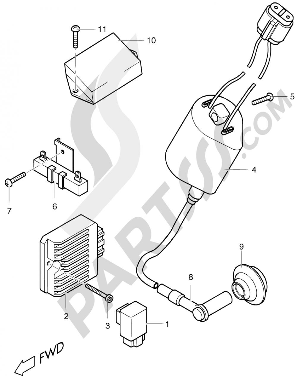 16 - ELECTRICAL Suzuki ESTILETE UF50 2000