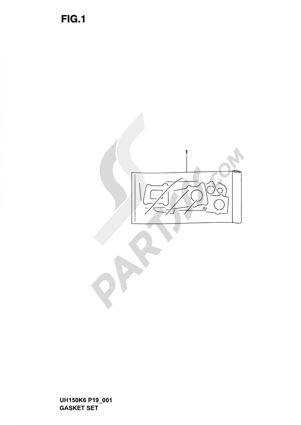 1 - GASKET SET Suzuki BURGMAN UH150 2003