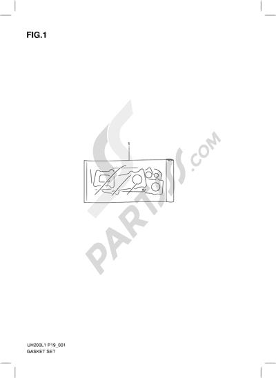 Suzuki BURGMAN UH200 2011 1 - GASKET SET