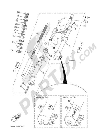 Yamaha AEROX R 2006 FRONT FORK