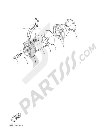Yamaha AEROX R 2006 CYLINDER HEAD