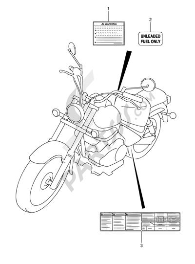 Despiece Suzuki Intruder Vl250 2005