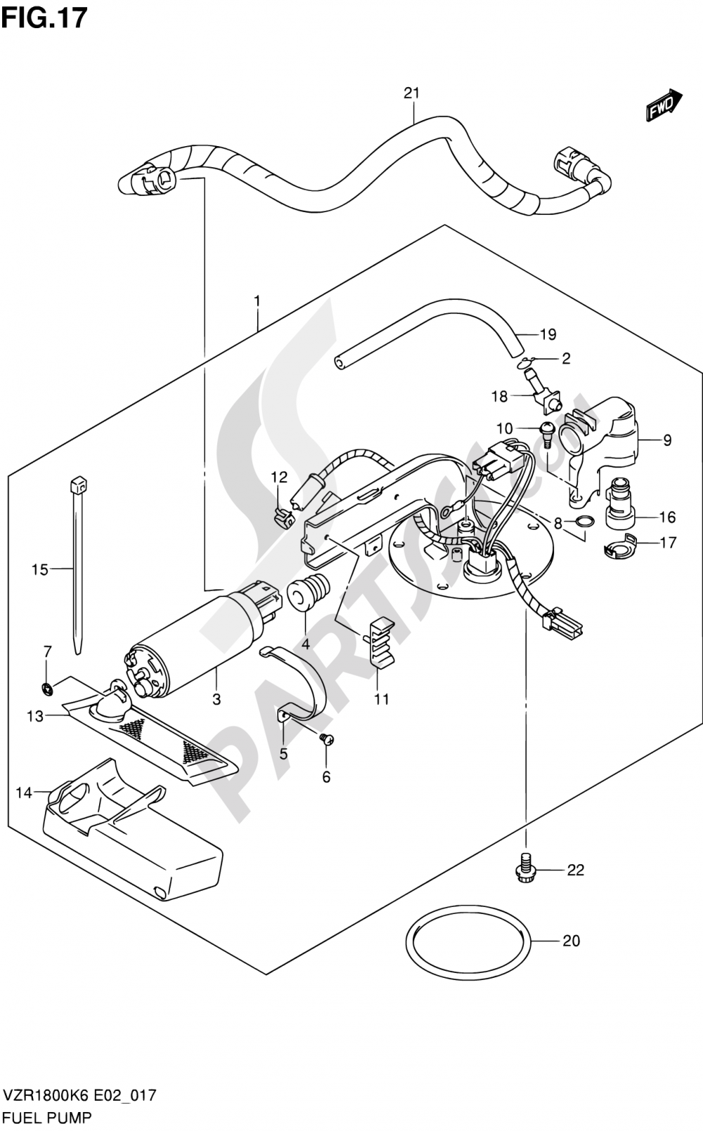 17 - FUEL PUMP Suzuki VZR1800 2009