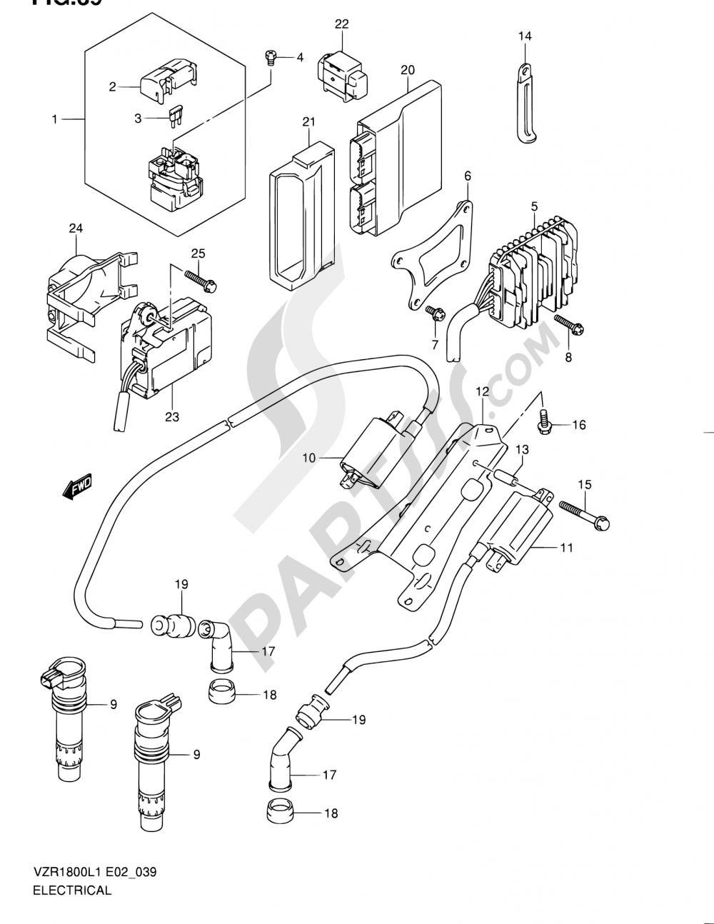 39 - ELECTRICAL (VZR1800L1 E19) Suzuki VZR1800 2011