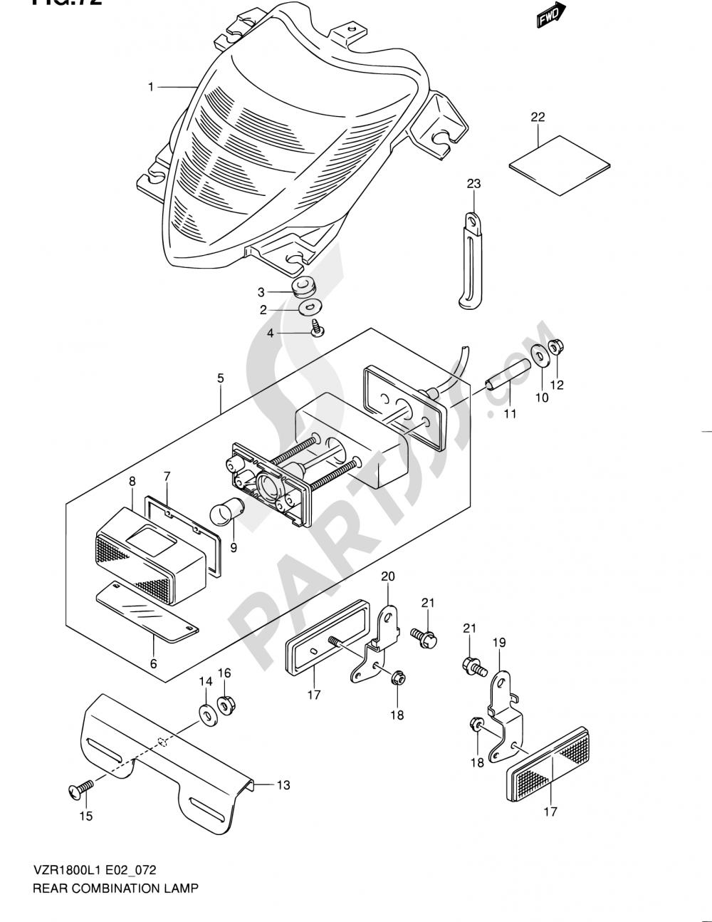 72 - REAR COMBINATION LAMP (VZR1800ZL1 E24) Suzuki VZR1800 2011