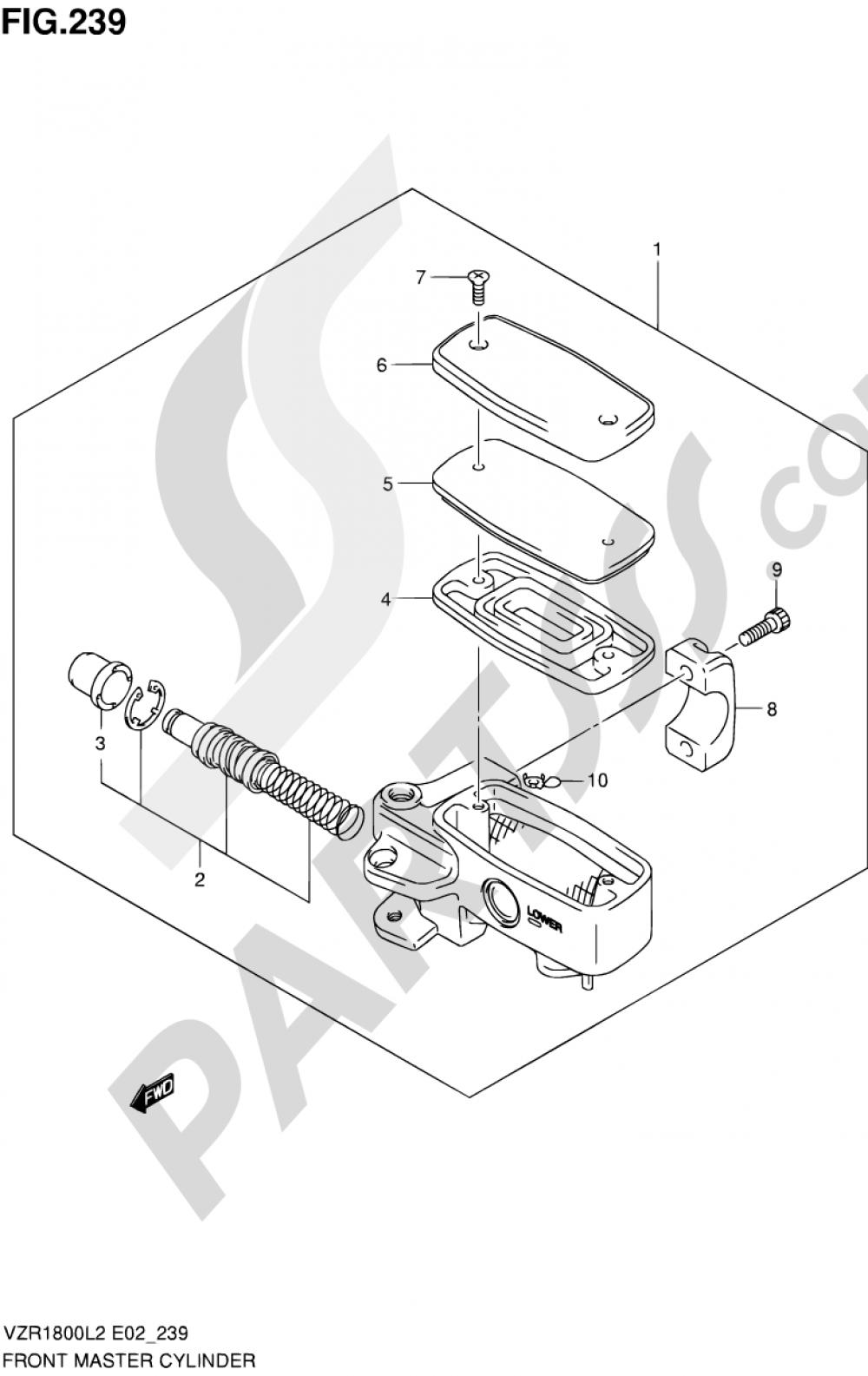 239 - FRONT MASTER CYLINDER (VZR1800ZL2 E02) Suzuki VZR1800 2012