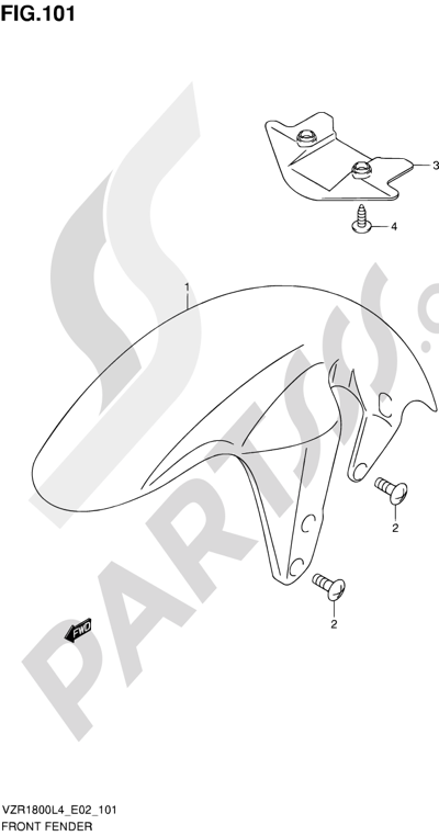 Suzuki VZR1800 2014 101 - FRONT FENDER (VZR1800UFL4 E19)
