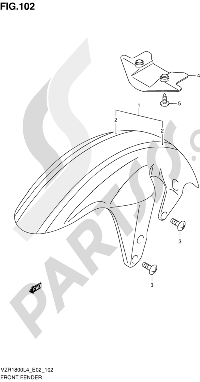 Suzuki VZR1800 2014 102 - FRONT FENDER (VZR1800ZL4 E02)