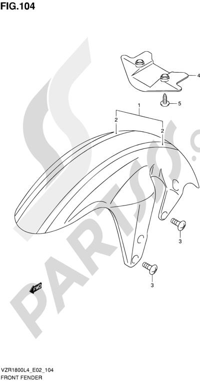 Suzuki VZR1800 2014 104 - FRONT FENDER (VZR1800ZUFL4 E19)