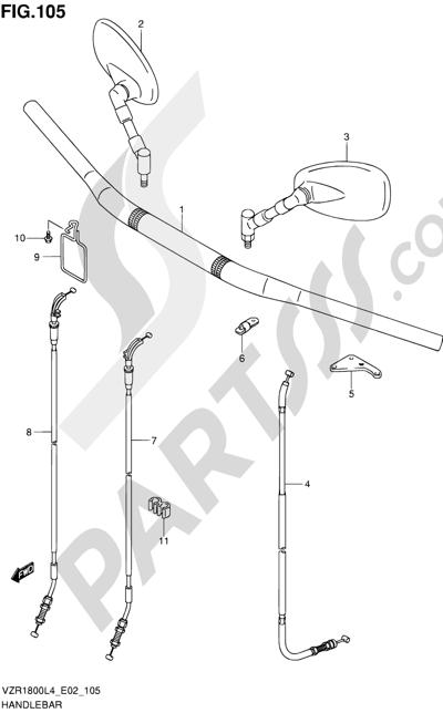 Suzuki VZR1800 2014 105 - HANDLEBAR