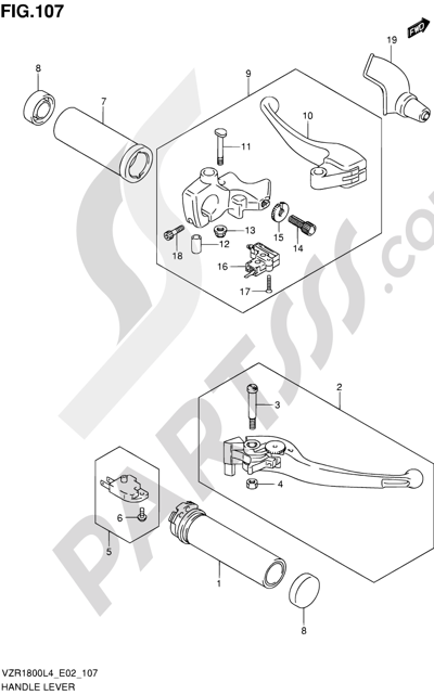 Suzuki VZR1800 2014 107 - HANDLE LEVER (VZR1800L4 E19)
