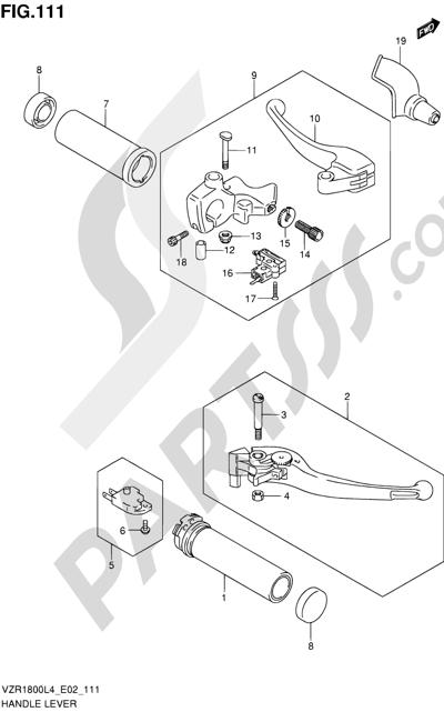 Suzuki VZR1800 2014 111 - HANDLE LEVER (VZR1800ZUFL4 E19)