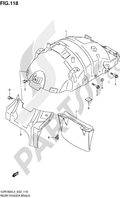 Suzuki VZR1800 2014 118 - REAR FENDER BRACE