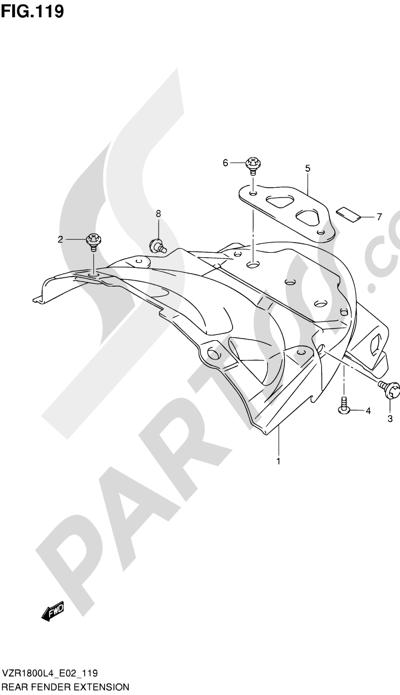Suzuki VZR1800 2014 119 - REAR FENDER EXTENSION